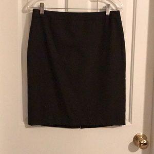 Ann Taylor Pencil Skirt. Dark Brown. Sz 8p